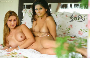 Hansika and Tanisha Nude Exposing Boobs Enjoying Lesbian Sex [Fake]